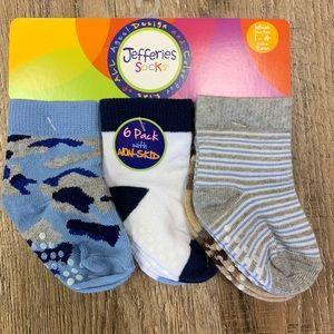 Jefferies boy non skid socks